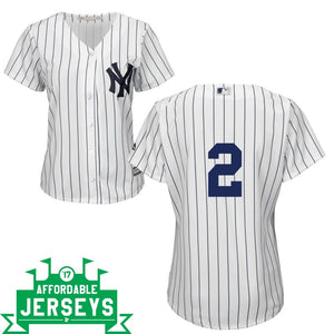 Derek Jeter Home Women's Cool Base Player Jersey - AffordableJerseys.com