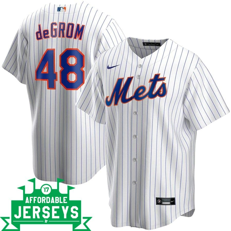 Jacob deGrom Home Nike Replica Player Jersey - AffordableJerseys.com
