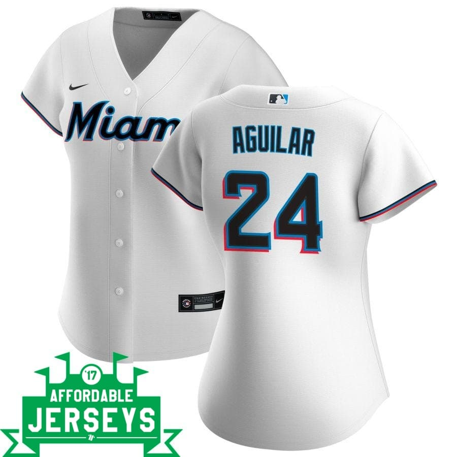 Jesus Aguilar Home Women's Nike Replica Player Jersey - AffordableJerseys.com