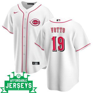 Joey Votto Home Nike Replica Player Jersey - AffordableJerseys.com