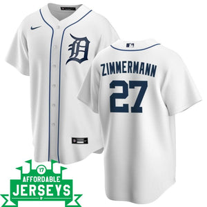 Jordan Zimmermann Home Nike Replica Player Jersey - AffordableJerseys.com