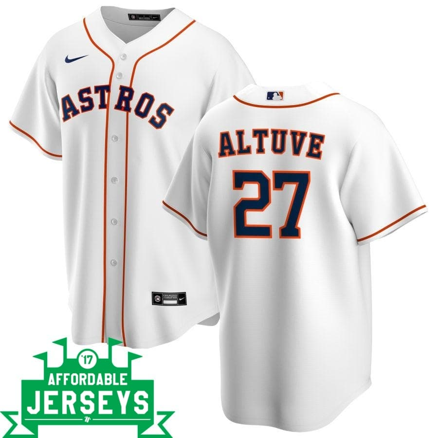 José Altuve Home Nike Replica Player Jersey - AffordableJerseys.com
