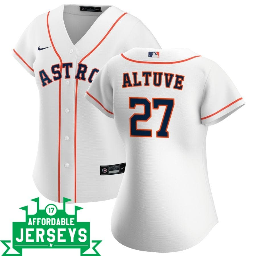 José Altuve Home Women's Nike Replica Player Jersey - AffordableJerseys.com