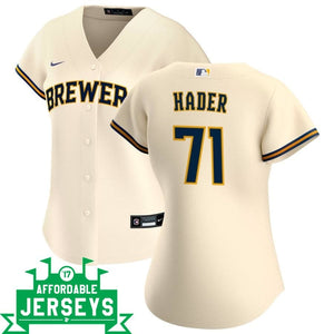 Josh Hader Home Women's Nike Replica Player Jersey - AffordableJerseys.com