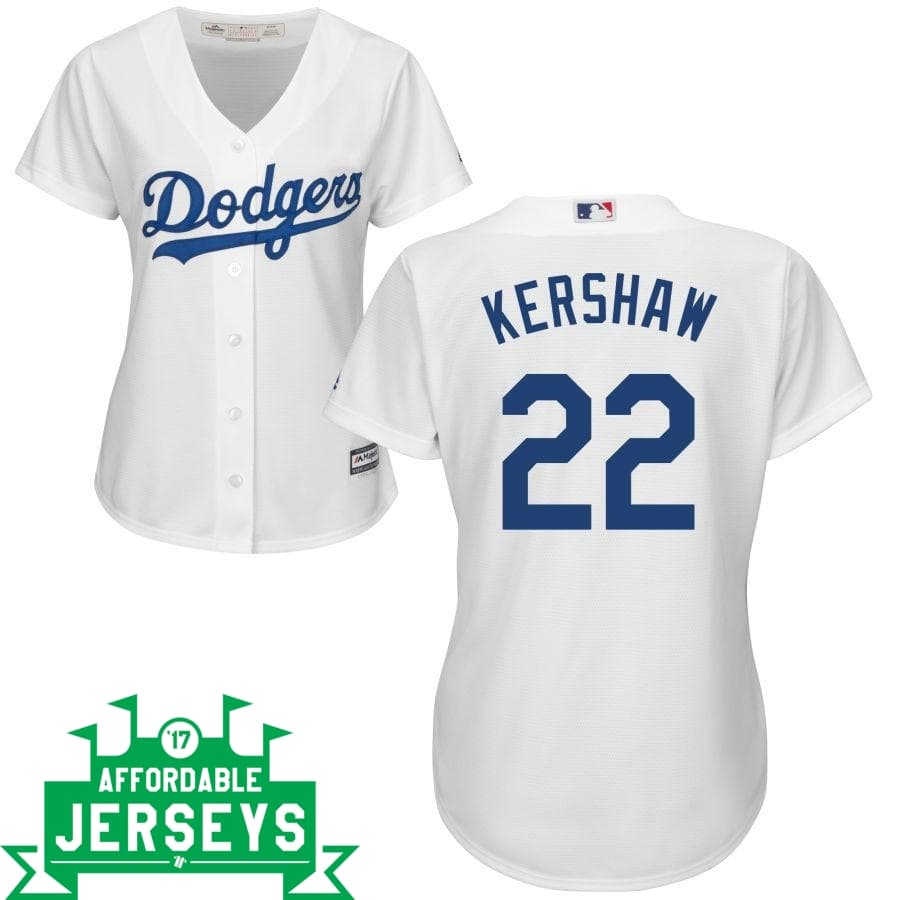 Clayton Kershaw Home Women's Cool Base Player Jersey - AffordableJerseys.com