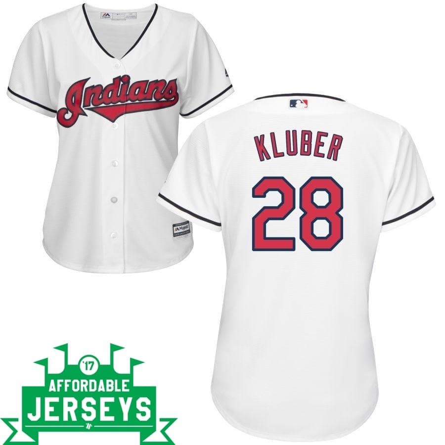 Corey Kluber Home Women's Cool Base Player Jersey - AffordableJerseys.com