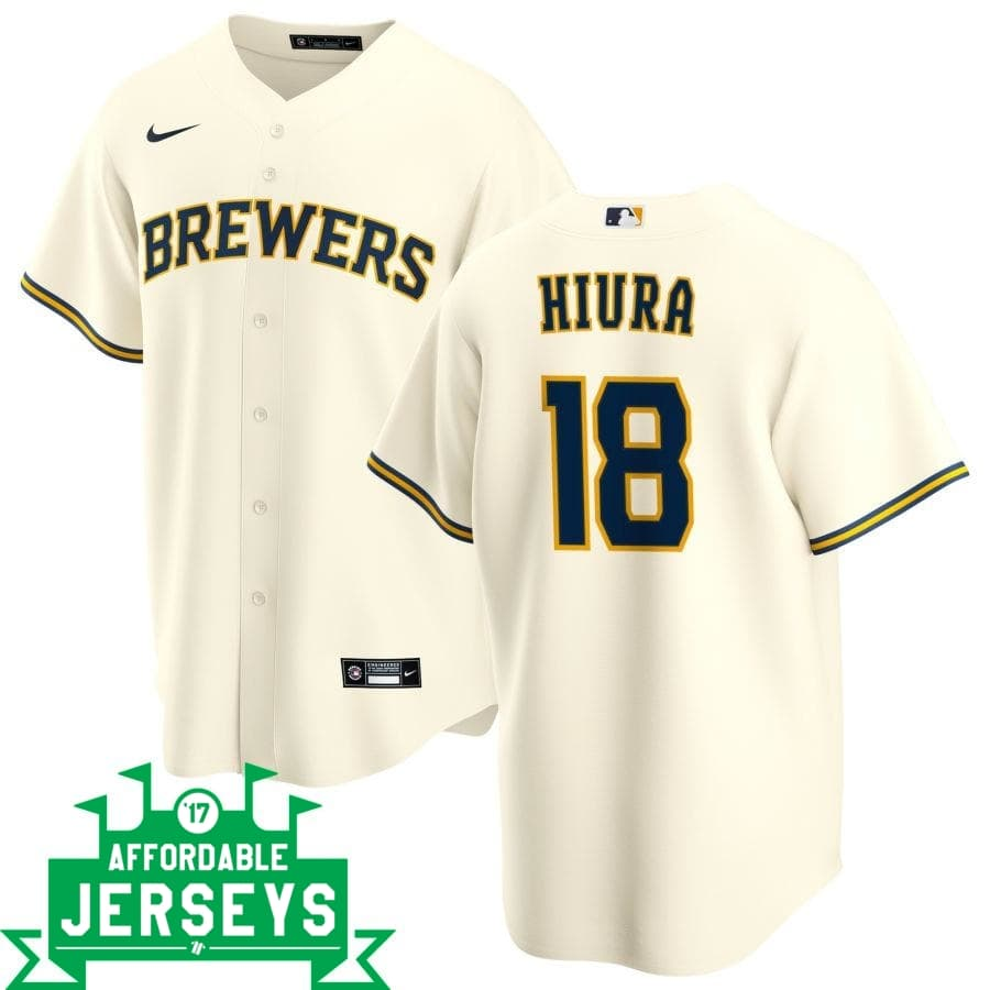 Keston Hiura Home Nike Replica Player Jersey - AffordableJerseys.com