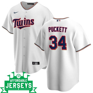 Kirby Puckett Home Nike Replica Player Jersey - AffordableJerseys.com