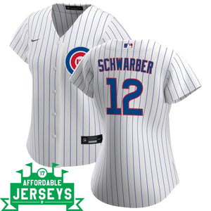 Kyle Schwarber Home Women's Nike Replica Player Jersey - AffordableJerseys.com