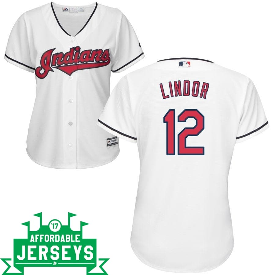 Francisco Lindor Home Women's Cool Base Player Jersey - AffordableJerseys.com