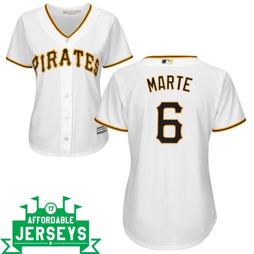 Starling Marte Home Women's Cool Base Player Jersey - AffordableJerseys.com