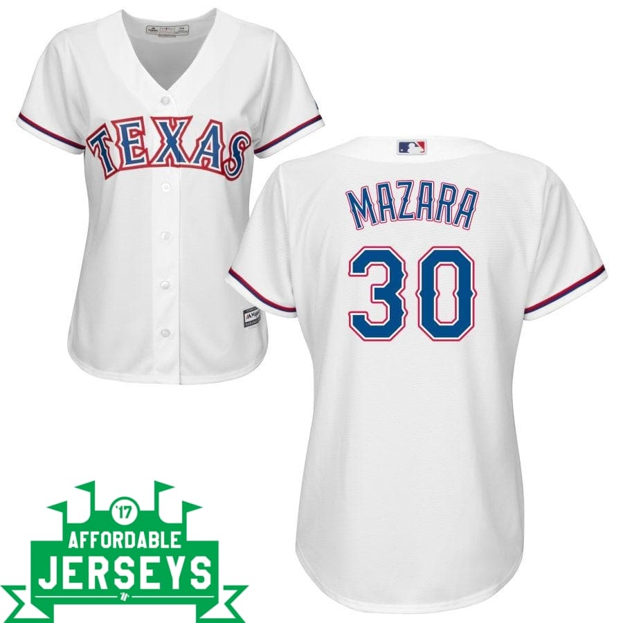 Nomar Mazara Home Women's Cool Base Player Jersey - AffordableJerseys.com