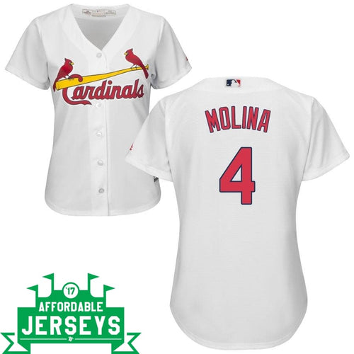 Yadier Molina Home Women's Cool Base Player Jersey