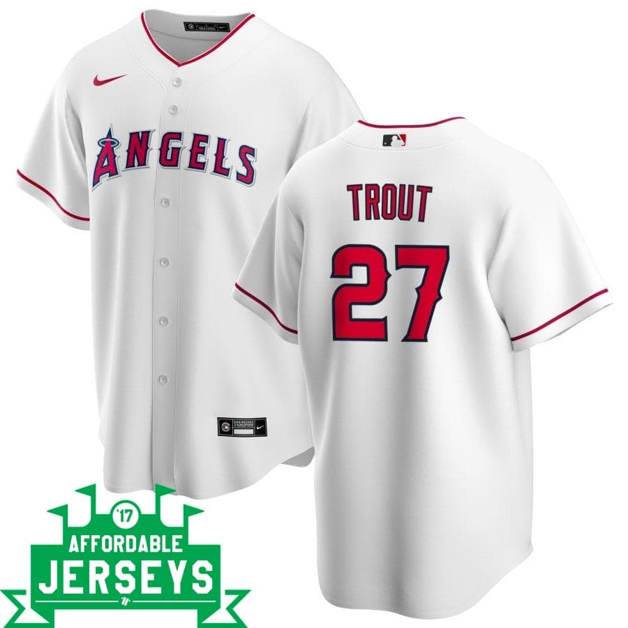 Mike Trout Home Nike Replica Player Jersey - AffordableJerseys.com