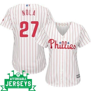 Aaron Nola Home Women's Cool Base Player Jersey - AffordableJerseys.com