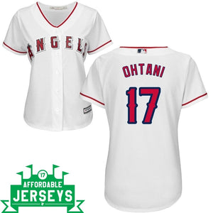 Shohei Ohtani Home Women's Cool Base Player Jersey - AffordableJerseys.com