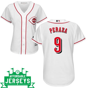 Jose Peraza Home Women's Cool Base Player Jersey - AffordableJerseys.com