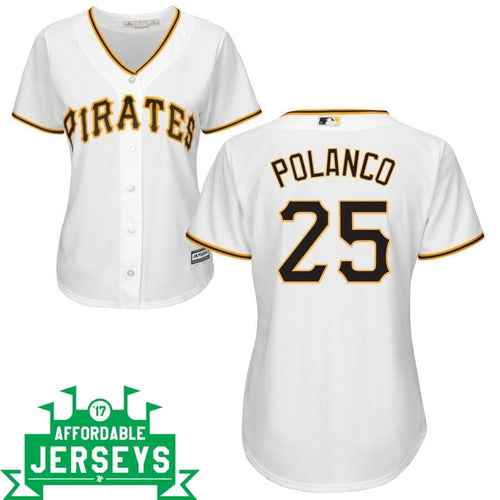 Gregory Polanco Home Women's Cool Base Player Jersey - AffordableJerseys.com