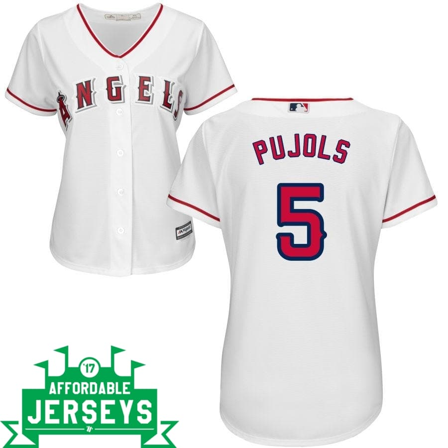 Albert Pujols Home Women's Cool Base Player Jersey - AffordableJerseys.com