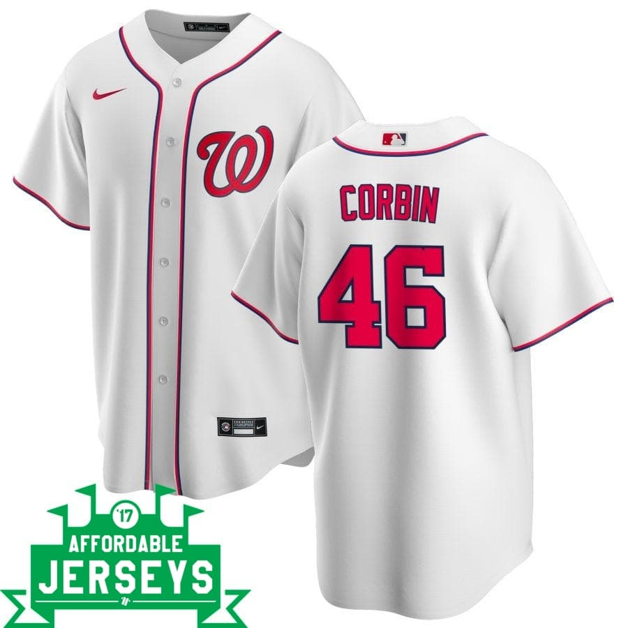Patrick Corbin Home Nike Replica Player Jersey - AffordableJerseys.com