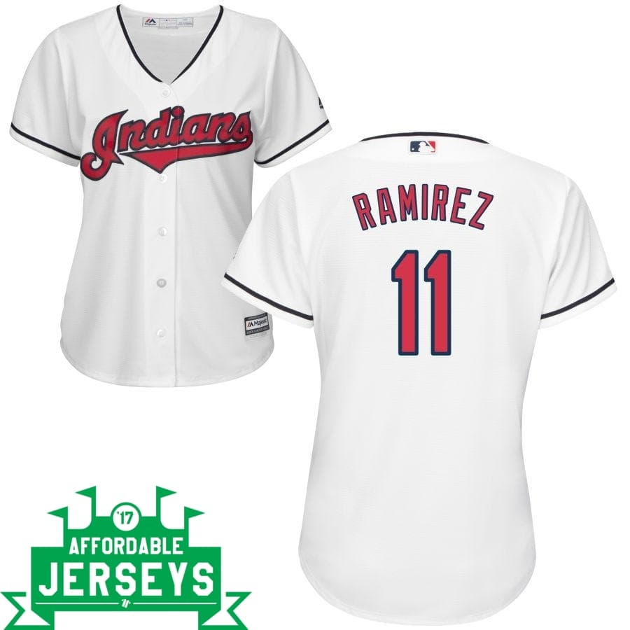 Jose Ramirez Home Women's Cool Base Player Jersey - AffordableJerseys.com