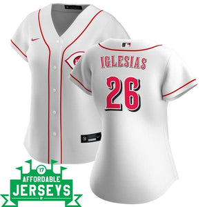 Raisel Iglesias Home Women's Nike Replica Player Jersey - AffordableJerseys.com