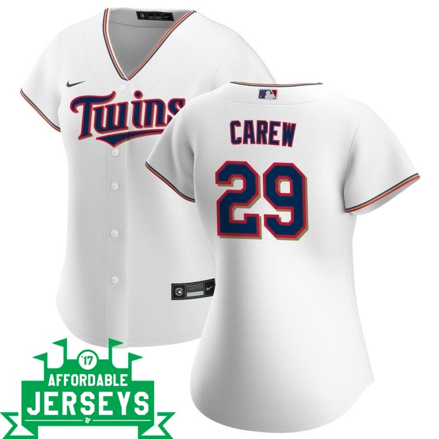 Rod Carew Home Women's Nike Replica Player Jersey - AffordableJerseys.com