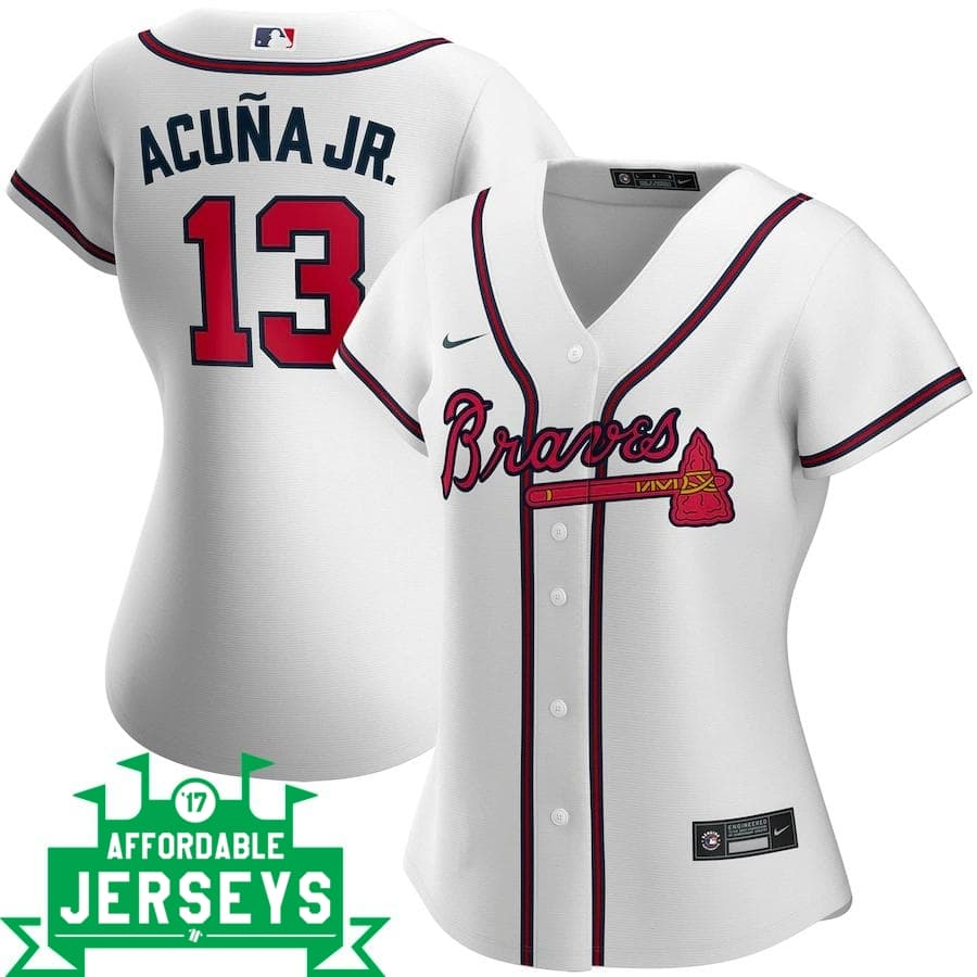 Ronald Acuña Jr. Home Women's Nike Replica Player Jersey - AffordableJerseys.com