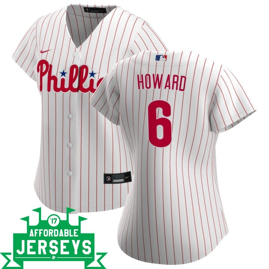 Ryan Howard Home Women's Nike Replica Player Jersey - AffordableJerseys.com
