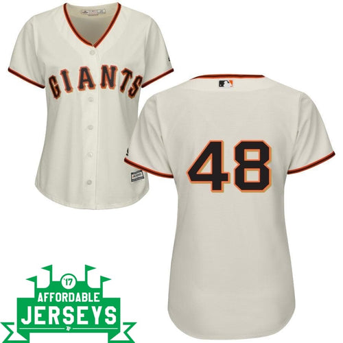 Pablo Sandoval Home Women's Cool Base Player Jersey - AffordableJerseys.com