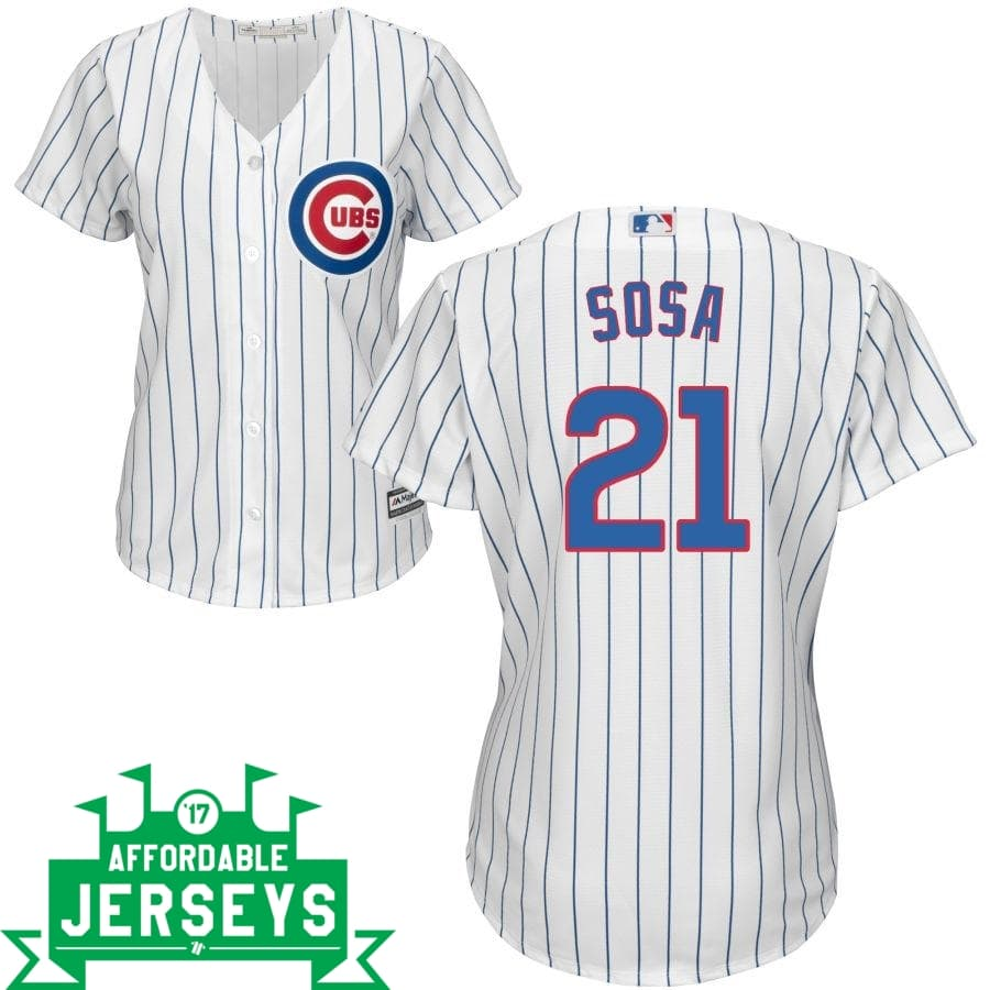 Sammy Sosa Home Women's Cool Base Player Jersey - AffordableJerseys.com