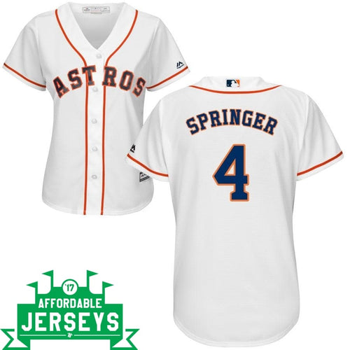 George Springer Home Women's Cool Base Player Jersey - AffordableJerseys.com