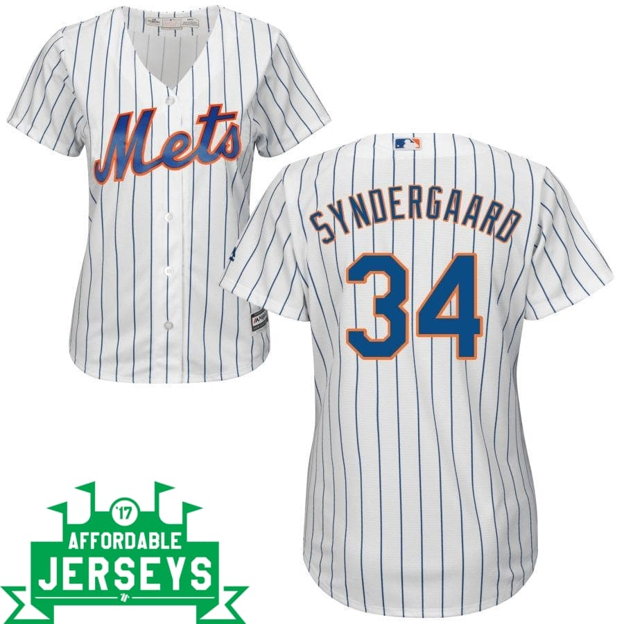 Noah Syndergaard Home Women's Cool Base Player Jersey - AffordableJerseys.com