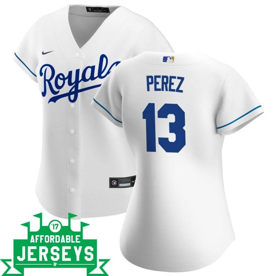 Salvador Perez Home Women's Nike Replica Player Jersey - AffordableJerseys.com