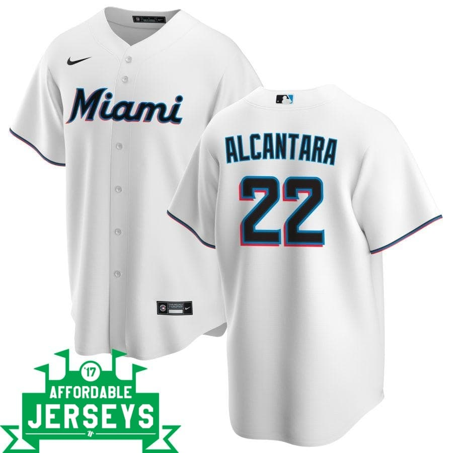 Sandy Alcantara Home Nike Replica Player Jersey - AffordableJerseys.com
