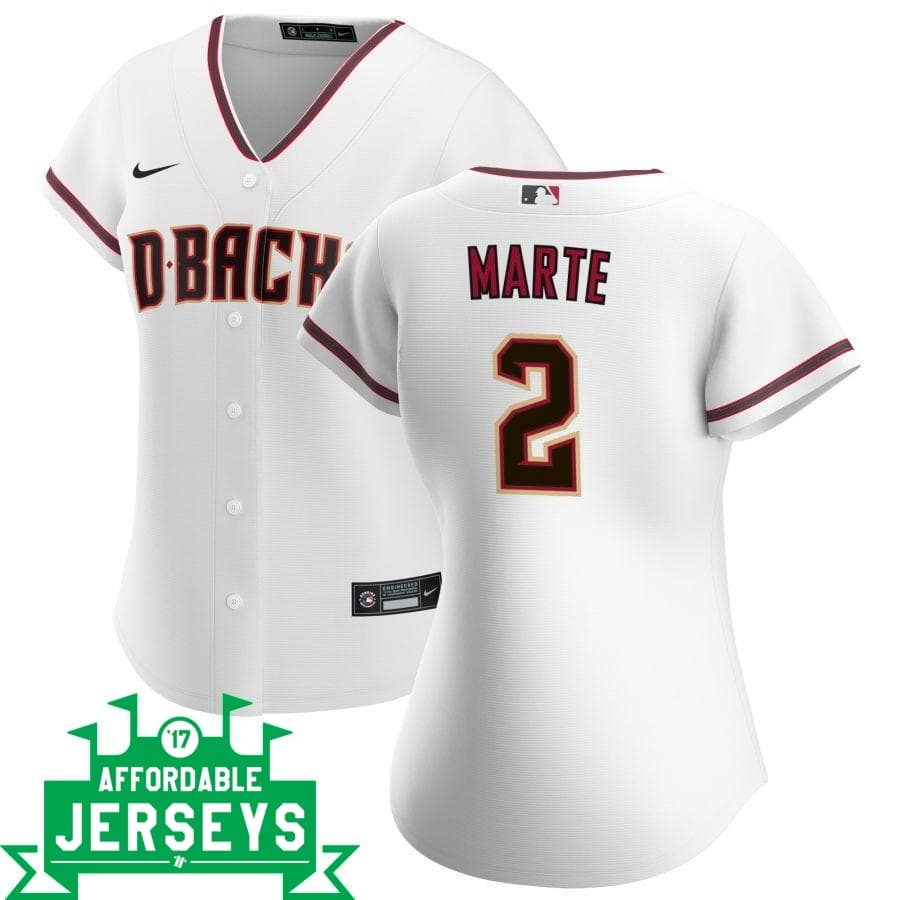 Starling Marte Home Women's Nike Replica Player Jersey - AffordableJerseys.com