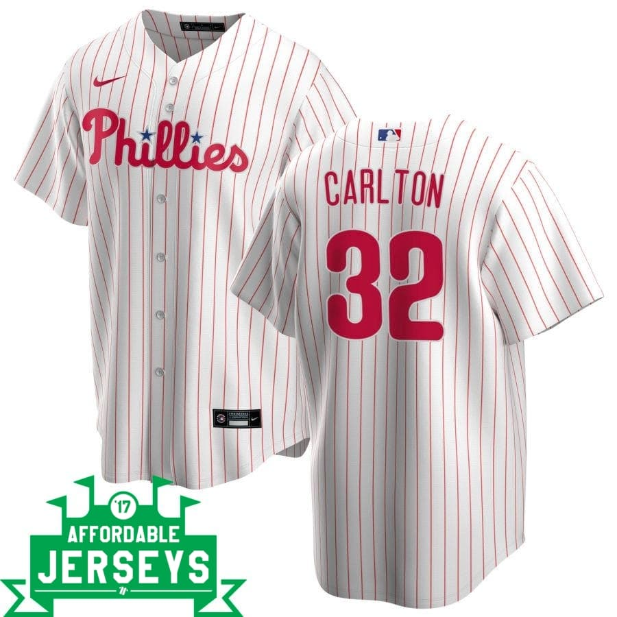 Steve Carlton Home Nike Replica Player Jersey - AffordableJerseys.com