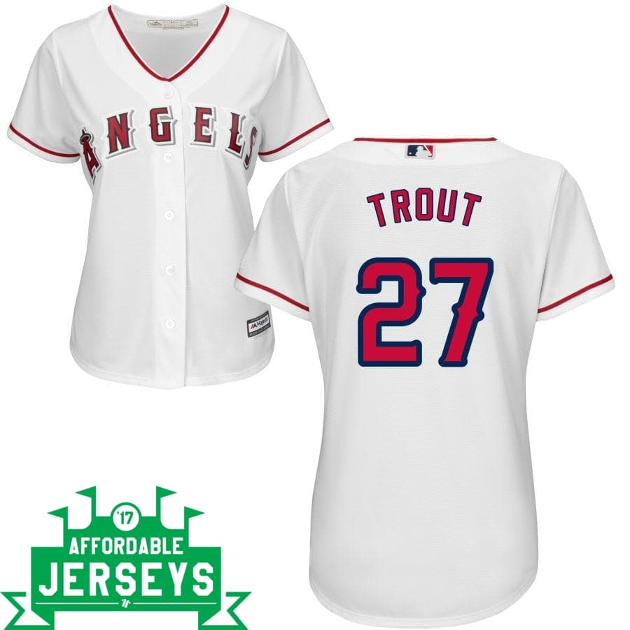 Mike Trout Home Women's Cool Base Player Jersey - AffordableJerseys.com