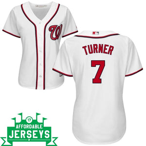 Trea Turner Home Women's Cool Base Player Jersey