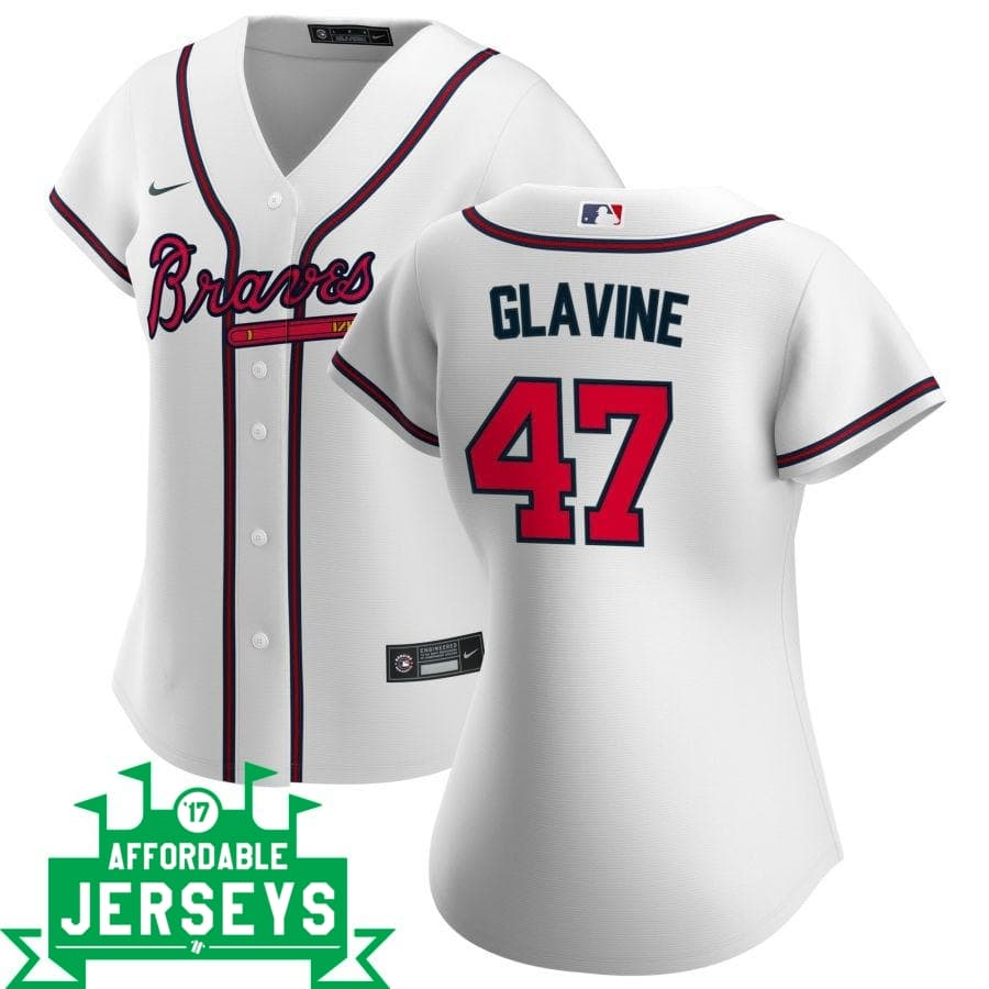 Tom Glavine Home Women's Nike Replica Player Jersey - AffordableJerseys.com