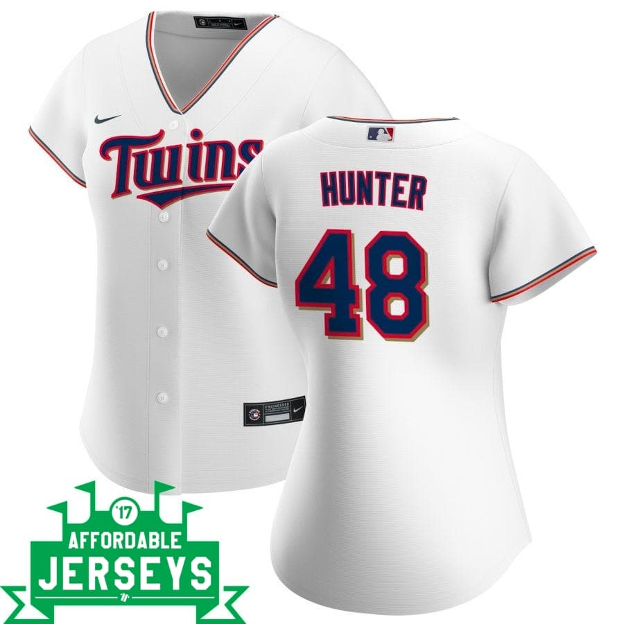 Torii Hunter Home Women's Nike Replica Player Jersey - AffordableJerseys.com