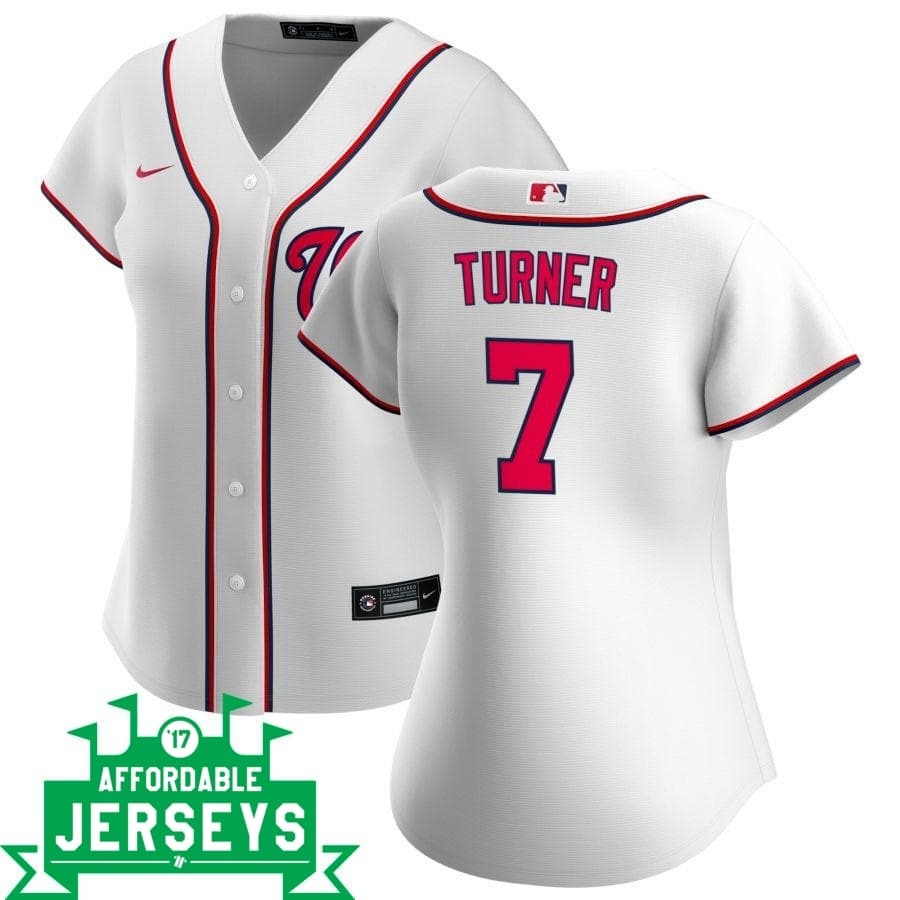 Trea Turner Home Women's Nike Replica Player Jersey - AffordableJerseys.com