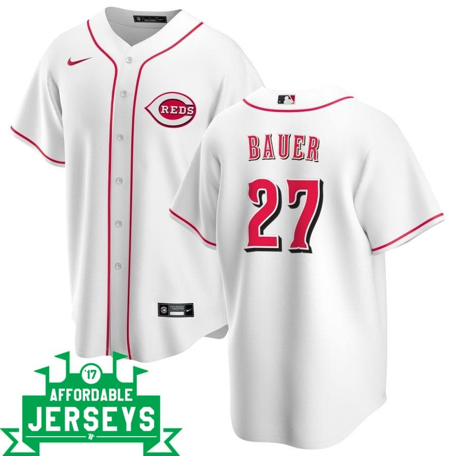 Trevor Bauer Home Nike Replica Player Jersey - AffordableJerseys.com