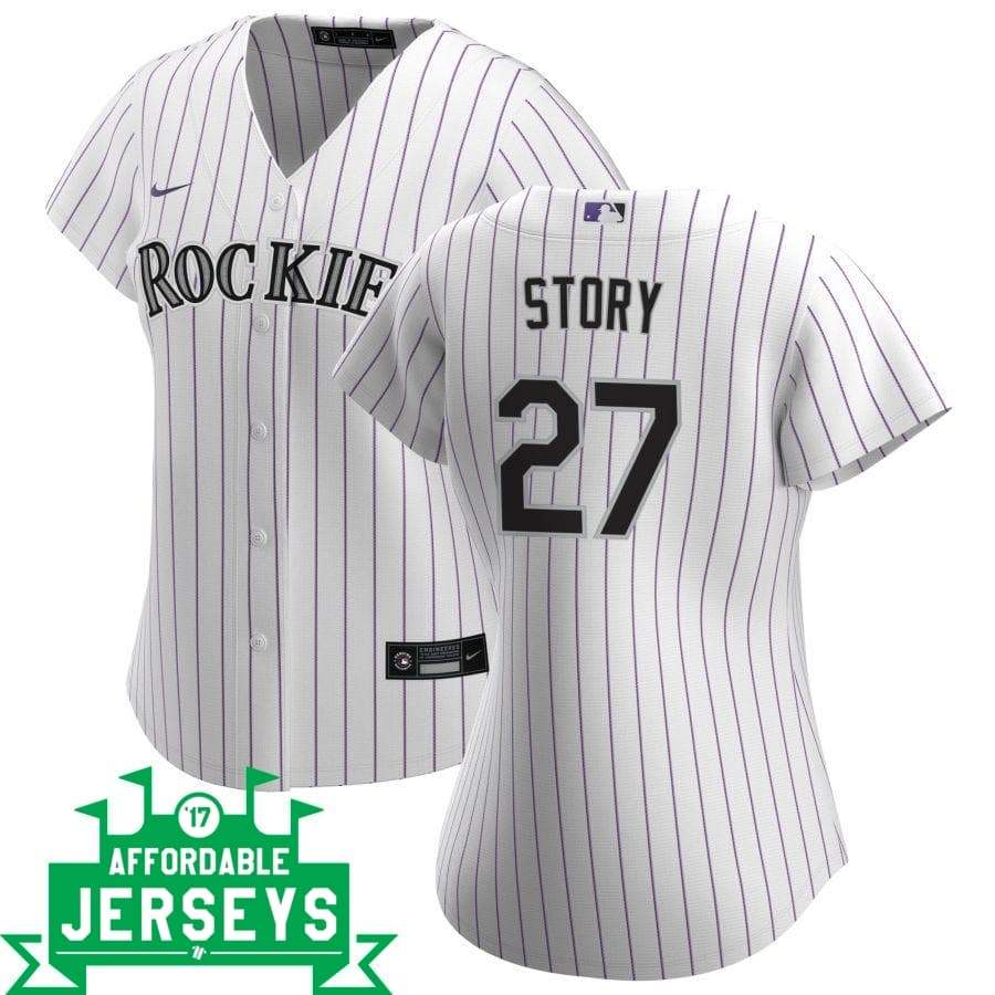 Trevor Story Home Women's Nike Replica Player Jersey - AffordableJerseys.com