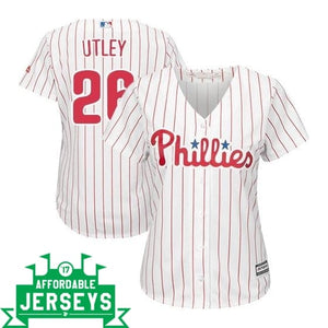 Chase Utley Home Women's Cool Base Player Jersey - AffordableJerseys.com
