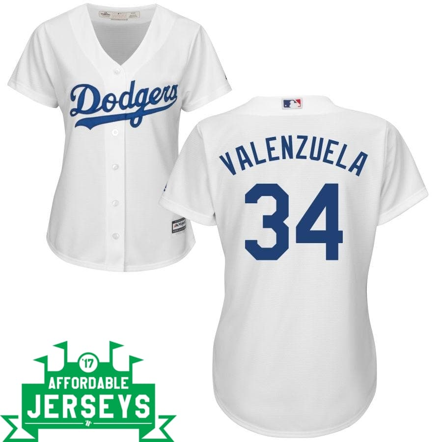 Fernando Valenzuela Home Women's Cool Base Player Jersey