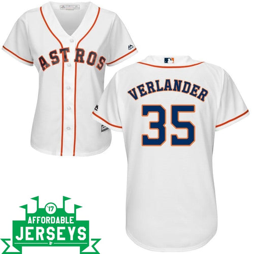 Justin Verlander Home Women's Cool Base Player Jersey - AffordableJerseys.com