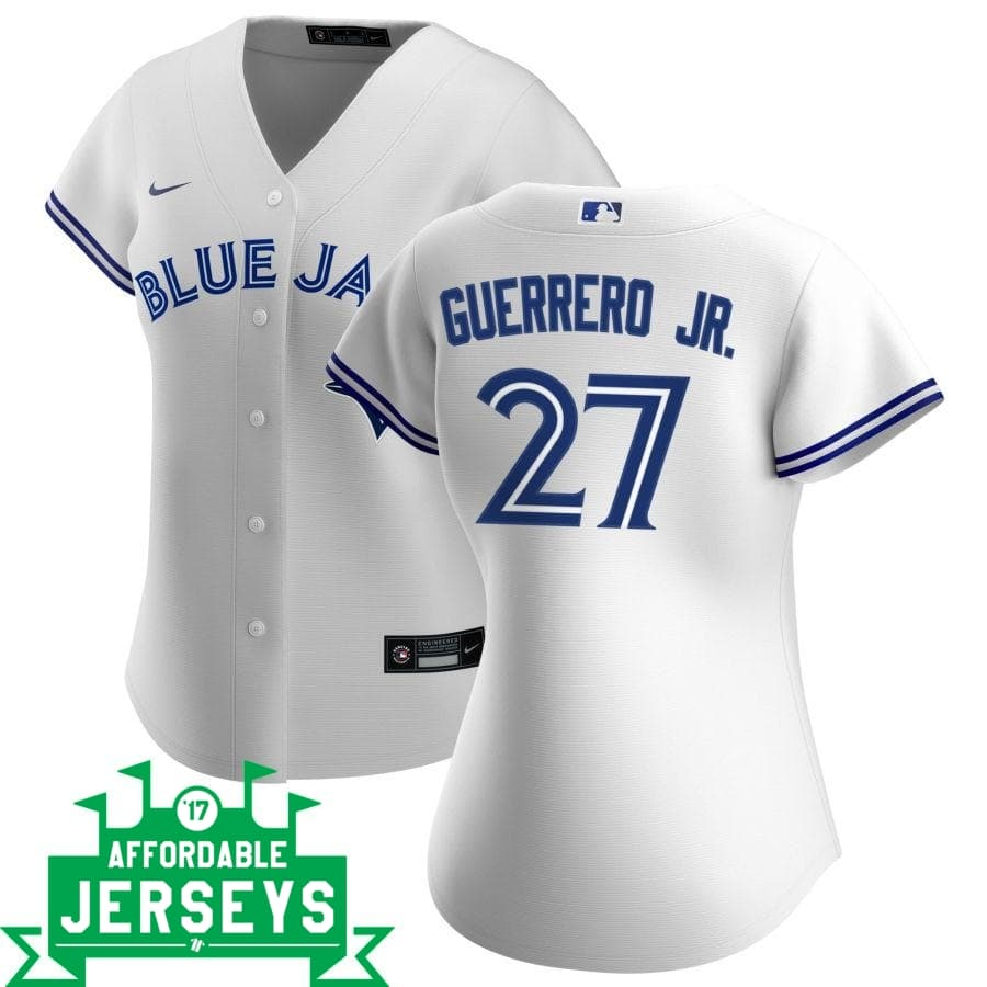 Vladimir Guerrero Jr. Home Women's Nike Replica Player Jersey - AffordableJerseys.com