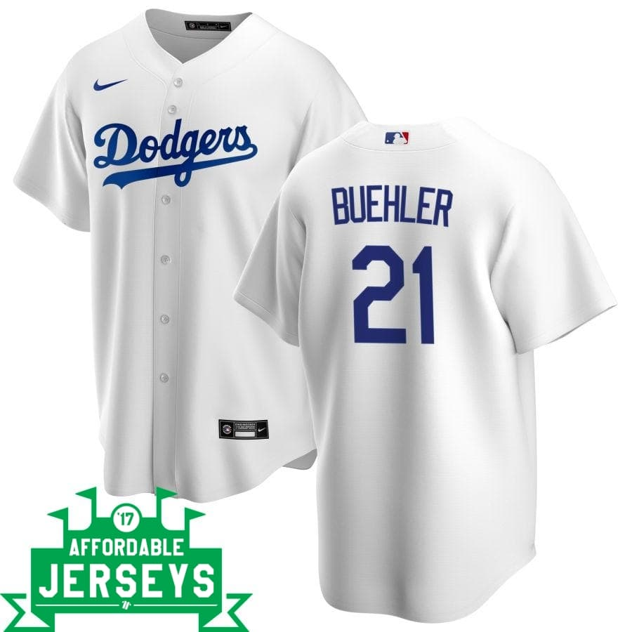 Walker Buehler Home Nike Replica Player Jersey - AffordableJerseys.com