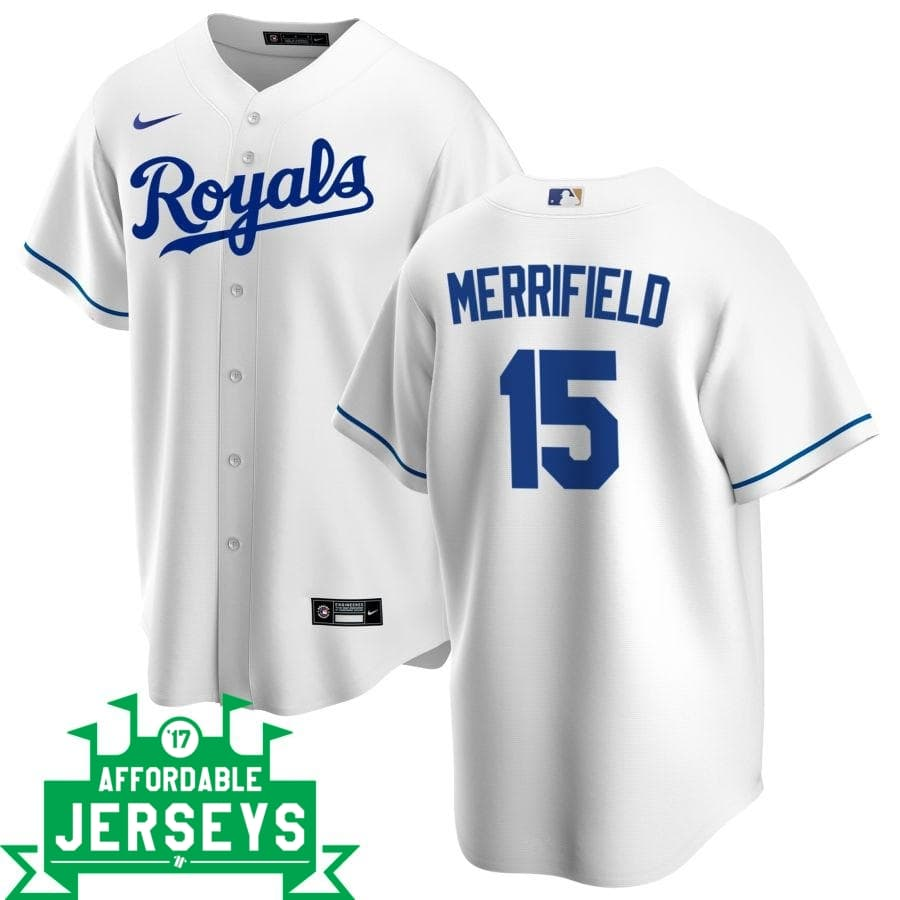 Whit Merrifield Home Nike Replica Player Jersey - AffordableJerseys.com